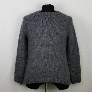 Zara Man Gray Knit Sweater Sz L 42